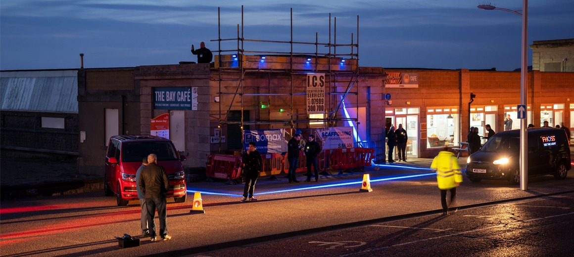 Halo Safety Device, Health and safety sites blue light red light, Halo System, Halo Exclusion, Safety Lightning